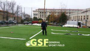 Amenajare teren de fotbal cu gazon artificial Mamaia
