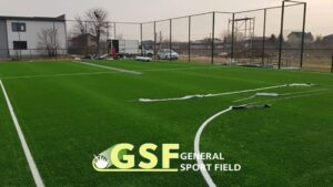 Amenajare teren multisport cu gazon artificial Domnești Ilfov