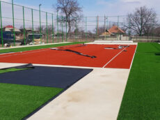 Amenajare teren multisport cu gazon sintetic Tibucani Neamț